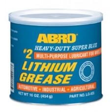 ABRO Heavy Duty #2 SuperBlue Lithium Grease - Μπλε Γράσο Θαλάσσης  454gr