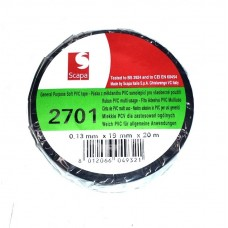 SCAPA 2701 - Μονωτική Ταινία PVC Μαύρη 0.13X19mmX20m